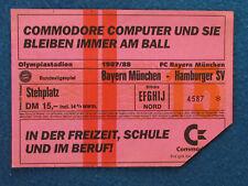 Bayern Munich et Hambourg SV - 1987/88 - billet