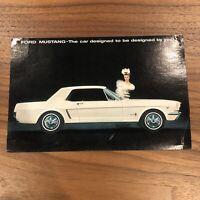 """1964 Ford """"Mustang"""" Car Dealer Sales VINTAGE MUSCLE CAR MODEL Postcard"""