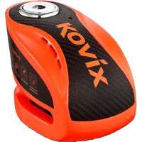 KOVIX ALARMED MOTORCYCLE DISC LOCK ORANGE KOKNX6OR