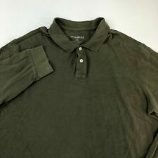 Eddie Bauer Polo Shirt Men's Size 2XL Tall Long Sleeve Olive Casual 100% Cotton