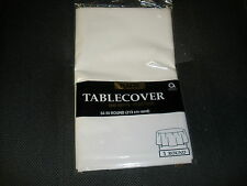 """AMSCAN PLASTIC TABLECOVER 84"""" ROUND 213 CM    NEW"""