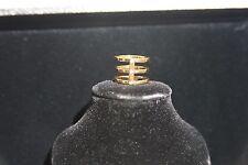 $65 GORJANA Lena Fashion Ring Gold Flat Cut Cubic zirconia stones size 6