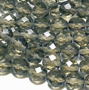 12mm Czech Glass Beads Faceted Firepolish 12 loose Beads 44 colors U-Pick