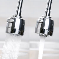 360°Swivel Tap Aerator Sink Mixer Faucet Nozzle Dual Spray Extender Kitchen Tool