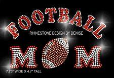 Football Mom Rhinestone Iron On Transfer