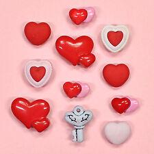 Boutons galore key to my heart 4313-amour st-valentin romance hearts dress it up