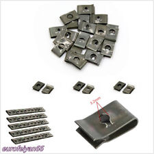 50 Pcs Metal Car Off-Road Dashboard Panel Fender Screw U Type Clips Fastener Nut