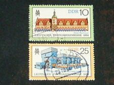 DDR 1984 gestempelt Nr. 2862 - 2863 Bauwerke Bauten auf Briefmarken ( 297 )