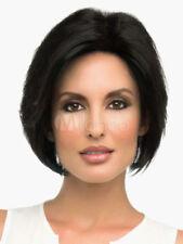 100% Cheveux Naturels Mode Femmes Court Raide Noir Perruques Parrucca Peluea