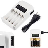 4 Slots LCD Smart Universal Battery Charger For AA AAA  NiCd Ni-MH