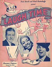 "Ethel Waters ""LAUGH TIME"" Frank Fay / Bert Wheeler 1943 Souvenir Program"