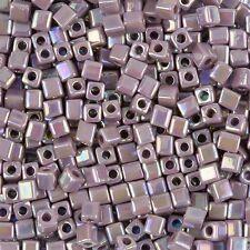 Miyuki Rainbow Opaco Amethyst 4mm cubo vetro Seme Perline TUBO 20g (H78/2)