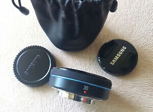 Samsung EX-S30NB 30mm f/2.0 Black Prime Lens Samsung NX Series in TOP CONDITION