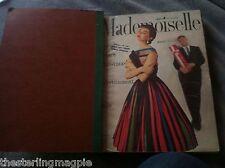 Vintage Mademoiselle Magazines Lot / Bound Nov 1954 - April 1955 6 Issues!
