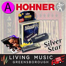 NEW Hohner Silver Star Harmonica KEY OF A 504AX Diatonic