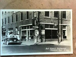 Cleveland Tennessee Bob Greens Restaurant Vintage Real Photo Postcard circa 40's