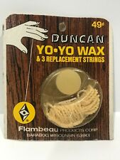 NOS Vintage Duncan Yoyo Wax Replacement Strings Pack Rare 1970s No.3063