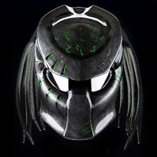 PREDATOR HELMET CUSTOM BLACK TOP GREEN GLOSS (approved DOT) SIZE M,L,XL,XXL