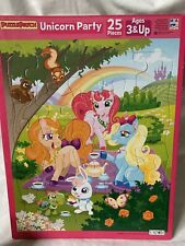 Unicorn party tray puzzle 25 pieces