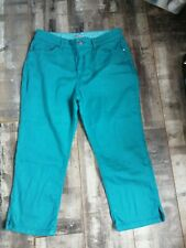 Ladies Stunning Teal Stretch Crop Jeans Size 16 by Per Una