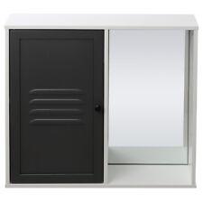 Modern Wall Mount Mirror Cabinet Bathroom Storage Cupboard Furniture UK