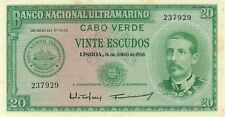 CAPE VERDE - CABO VERDE - 20 ESCUDOS 1958  CHOICE CRISP UNCIRCULATED NOTE