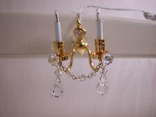 Heidi Ott Dollhouse Miniature Light 1:12 Scale Crystal Wall Lamp #Yl7003