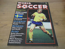 Football Magazine World Soccer October 1988 Sweden Zavarov Renato Klinsmann UEFA
