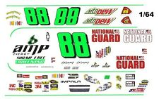 #88 Dale Earnhardt jr AMP Sugar Free 1/64th HO Scale Slot Car Waterslide Decals