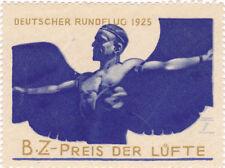 Vintage Poster Stamp DEUTSCHER RUNDFLUG 1925 bz Preis der Lufte Icarus Germany