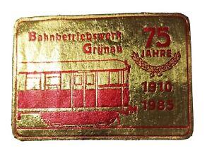 S-Bahn Berlin DR 75 Jahre S-Bahnbetriebswerk Grünau Aufkleber DDR