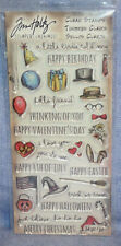 Tim Holtz Clear Stamps - Things/Talk-34 piece:Greetings/Holidays  HC-014  NEW!