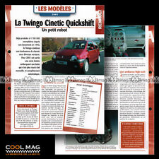 #hvf.87.07 RENAULT TWINGO CINETIC QUICKSHIFT 2001 Car Fiche Auto