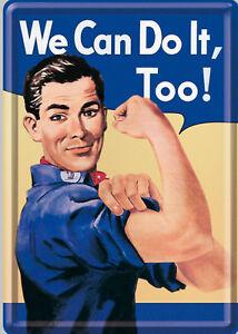 Nostalgic Art Carte Postale en Tôle / Métal We Can Do It - Man Power