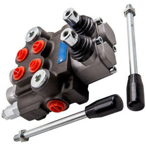 2 Spool Hydraulic Directional Control Valve 11 GPM Double Acting Cylinder Spool