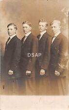 B96/ Ottawa Illinois Il Real Photo RPPC Postcard Well-dressed Men Suits