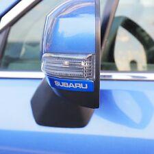 2x Stainless steel mirrors anti-rub decorative scuff trim for Subaru Forester XV