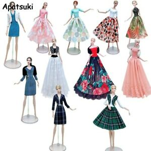 """Fashion Lace Doll Clothes Set For 11.5"""" Outfits Dress Gown Skirt Coat 1/6 Toys"""