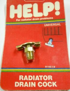 "Radiator Drain Plug Dorman Help 61103 Radiator Drain Cock 1/8"" NPT"