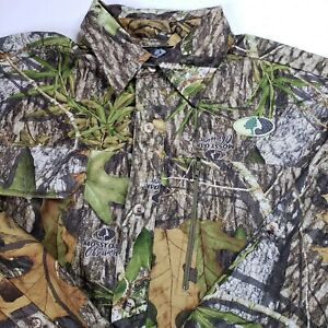 Mossy Oak Obsession Camo Hunting Shirt Mens M 38-40 Long Sleeve Back Vented