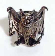 G&S 1984 GOTHIC VAMPIRE BAT SOLID STERLING VINTAGE MEN'S BIKER RING SIZE 12 USA
