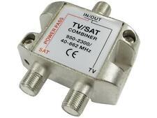 TV/Satellite Combiner - F Connector F Conn + Coax Combiner