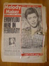 MELODY MAKER 1977 DEC 17 DAVID BOWIE EMMYLOU HARRIS