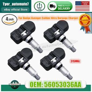 4PCS Tire Pressure TPMS Sensors For Dodge Avenger Caliber Nitro Durango Charger