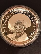 2002 THE QUEEN MOTHER Silver Proof Dollar $1 CANADA ~