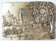 Plaque décorative paysage en ARGENT statuette sculpture signé Matii ou Matu