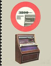 MANUALE COMPLETO  (manual) JUKEBOX WURLITZER 3800-3810-3860 AMERICANA (juke box)