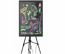 "Flashing Illuminated Neon LED Message Writing Board Menu Sign 32x24"" WITH TRIPOD"