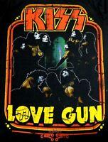 Kiss Love Gun T Shirt Black Kiss Catalog LTD Mens Size Small New