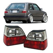 2 FEUX ARRIERE ROUGE ET BLANC VW GOLF 2 DE 8/83 A 12/92
